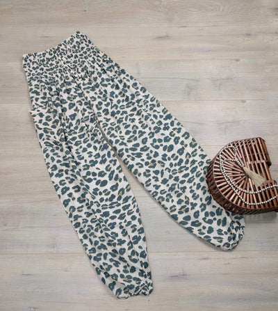 Relaxed Animal Print Bali Harem Pants
