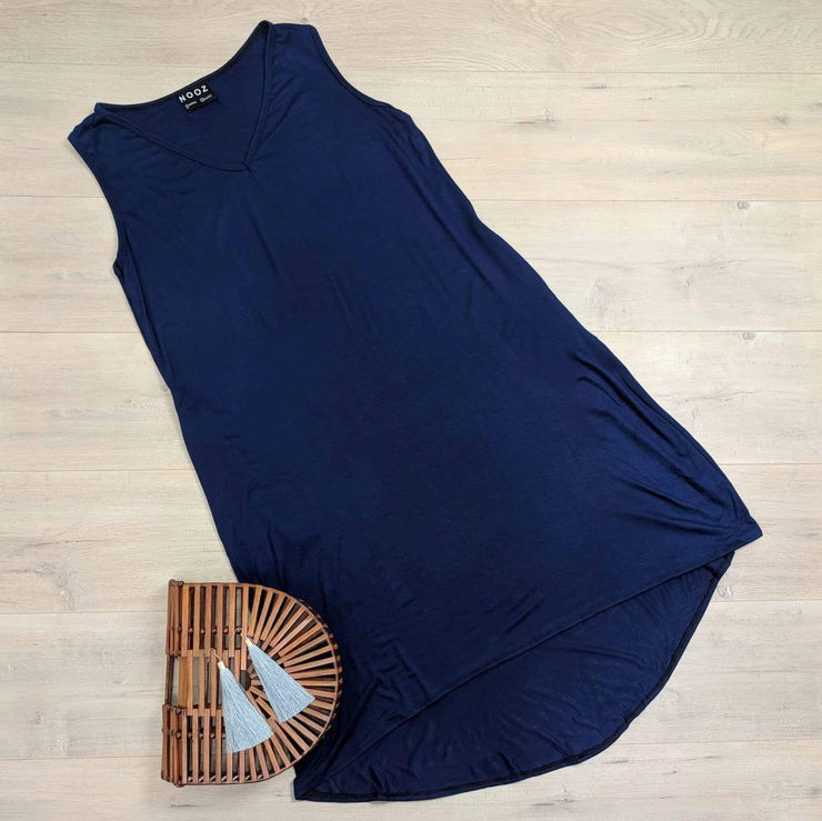 Navy Relaxed Marvel Dress