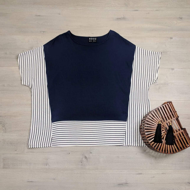 Oversized Striped Side Top