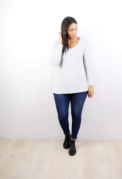 PRE-ORDER** White LS Essential Top