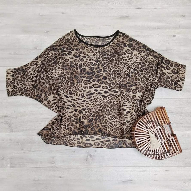 Dark Animal Draped Top - Wild Collection