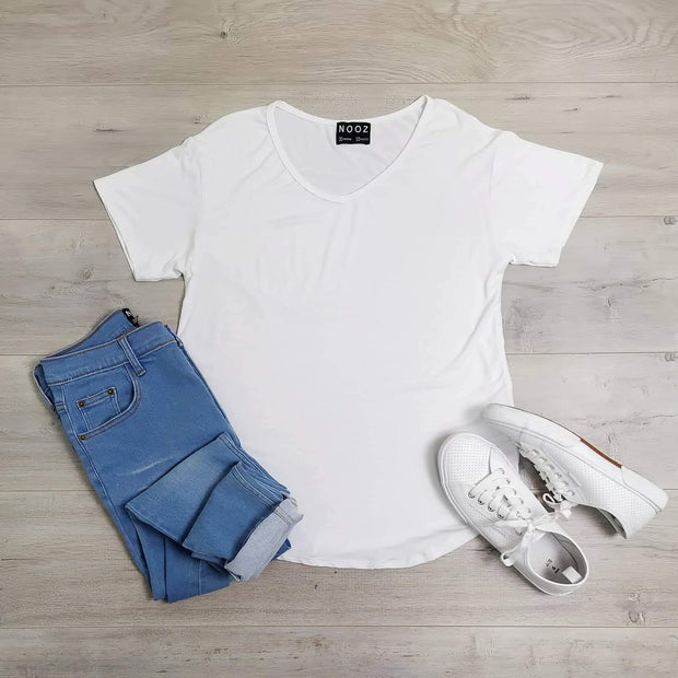 White Essential Tee