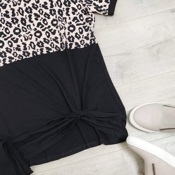 Animal Print Valencia Twist Top
