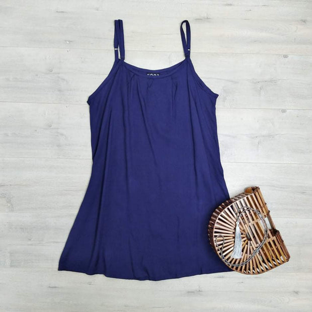 Short Shift Dress - Navy