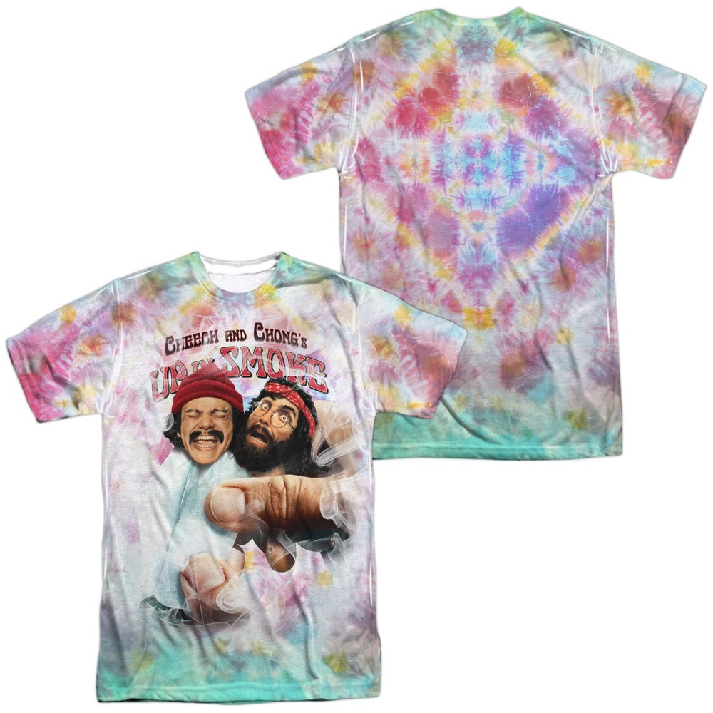 Cheech And Chong - Fried Tie Dyed (Front - Back Print)