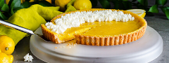 Lemon Tart with Almond Crust by Carlos Leo