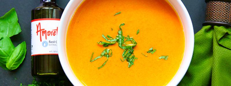 Carrot Ginger Basil Soup