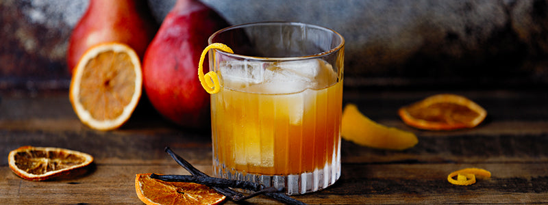 Pear & Vanilla Bourbon Cocktail