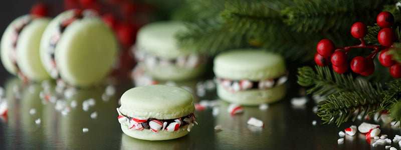 Chocolate Peppermint Macarons with Chef Colette