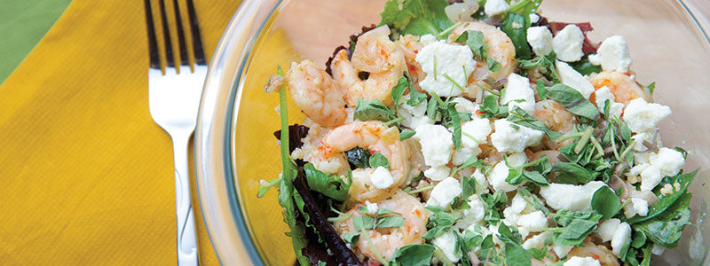 Mediterranean Shrimp and Couscous Dinner Salad