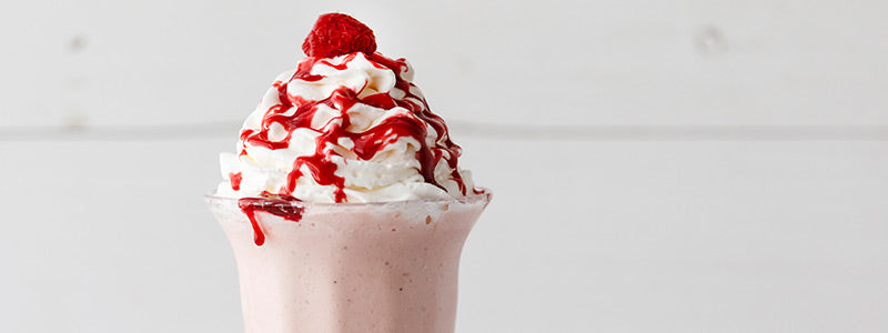 White Chocolate Raspberry Milkshake