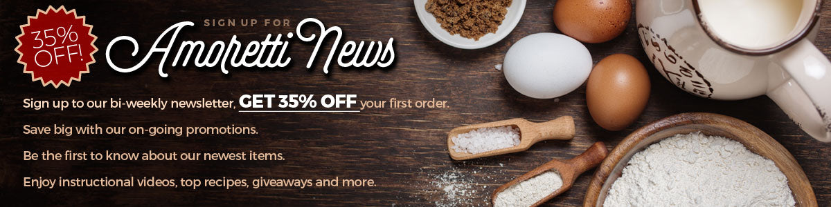 Sign up to our bi-weekly newsletter and get 35% off your first order!
