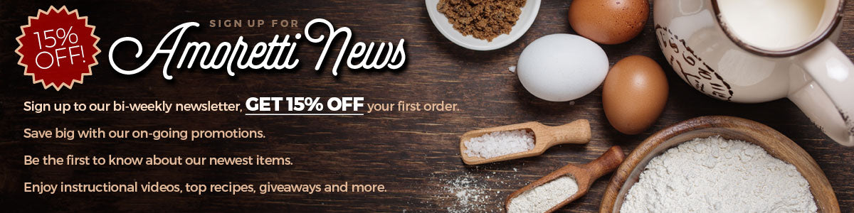 Sign up to our bi-weekly newsletter and get 15% off your first order!