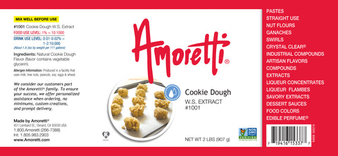 Amoretti Cookie Dough Extract W.S.