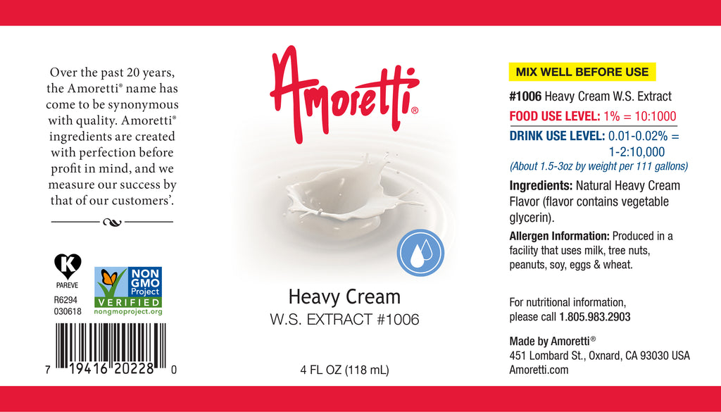 Heavy Cream Extract Water Soluble