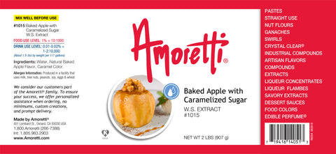 Amoretti Baked Apple with Carmelized Sugar Extract W.S.