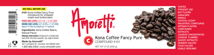 Kona Coffee Fancy Pure for whipped cream and buttercream Compound
