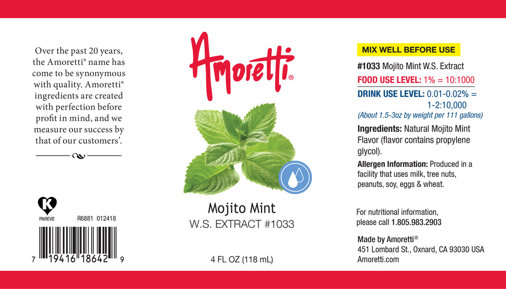 Mojito Mint Extract Water Soluble (just mint, no lime)