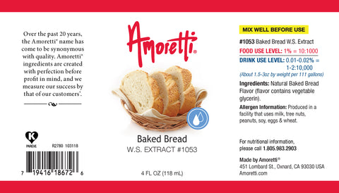 Amoretti Baked Bread Extract W.S.