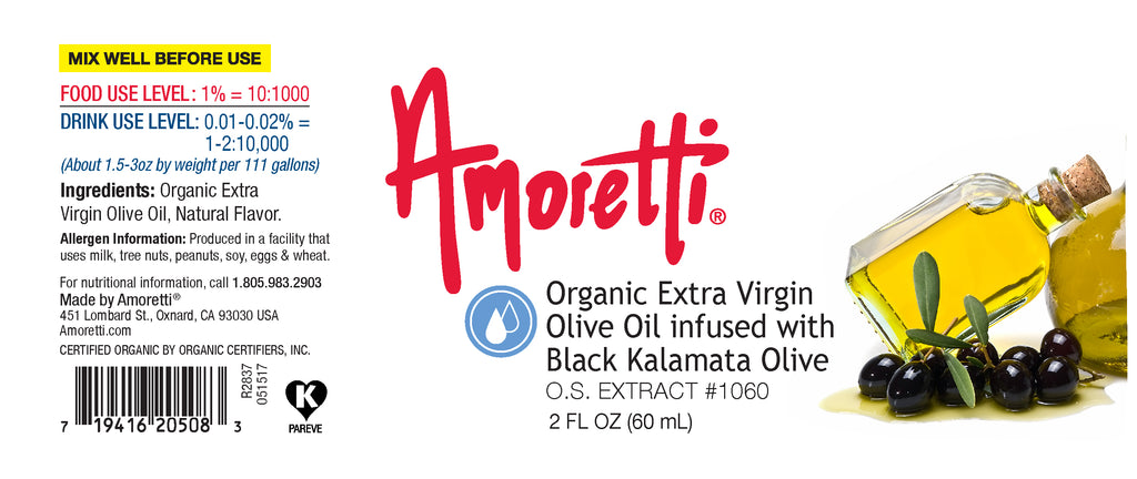 Organic Extra Virgin Olive Oil infused with Black Kalamata Olive Extract Oil Soluble