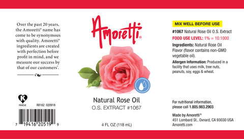 Amoretti Natural Rose Oil Extract O.S.