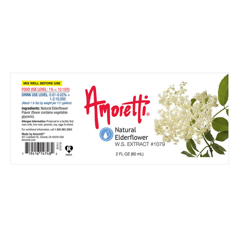 Amoretti Natural Elderflower Extract W.S