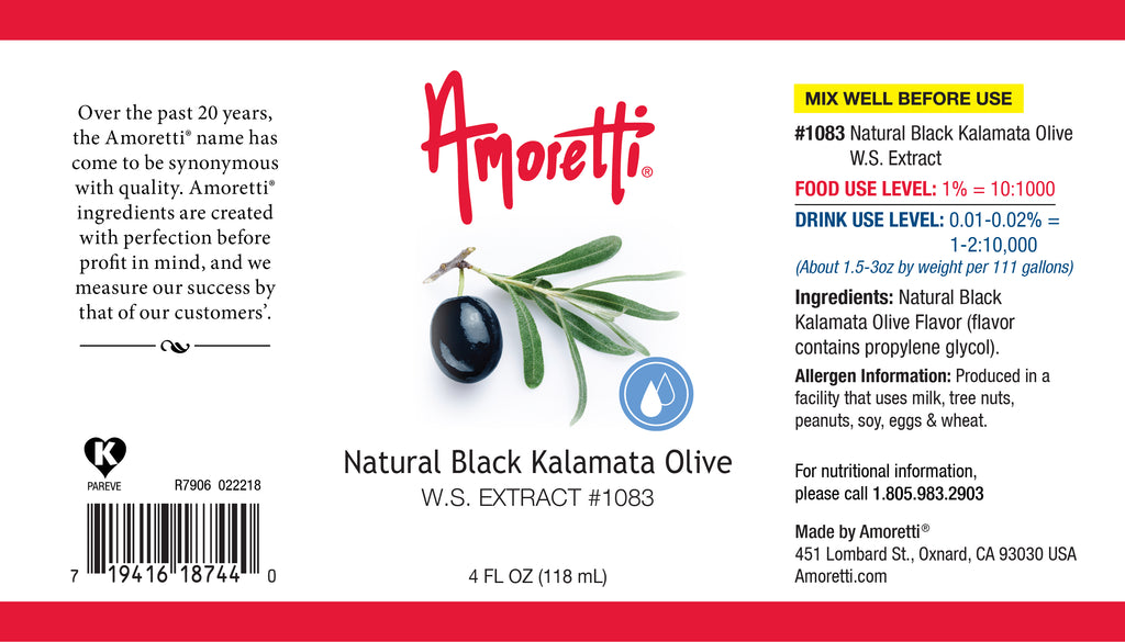 Natural Black Kalamata Olive Extract Water Soluble