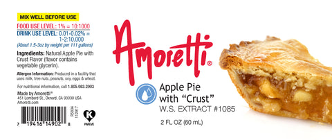 "Amoretti Apple Pie with ""Crust"" Extract W.S."