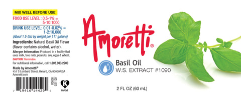 Amoretti Basil Extract W.S