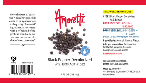 Amoretti Black Pepper Decolorized Extract W.S.