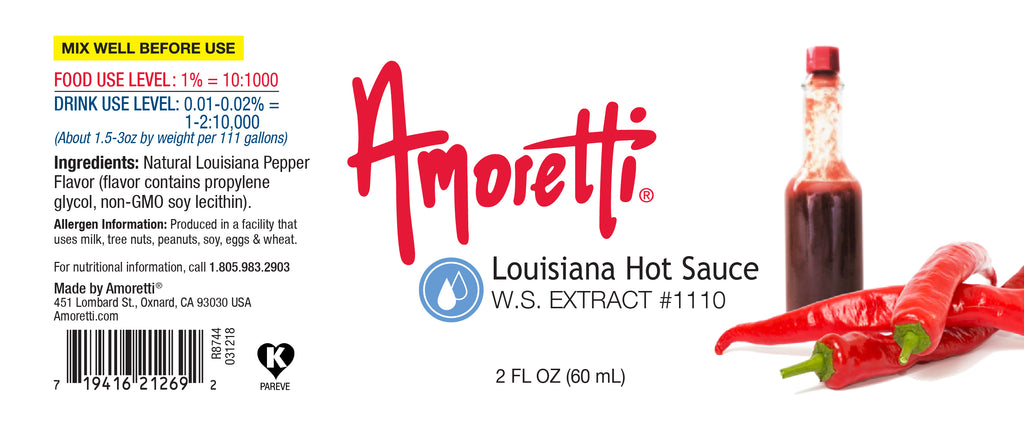 Louisiana Hot Sauce Extract Water Soluble