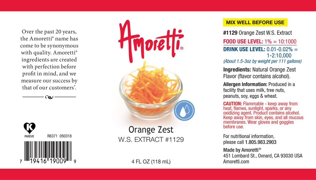 Orange Zest Extract Water Soluble