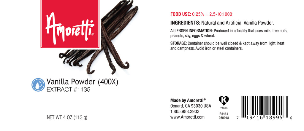 Vanilla 400X Powder Water Soluble