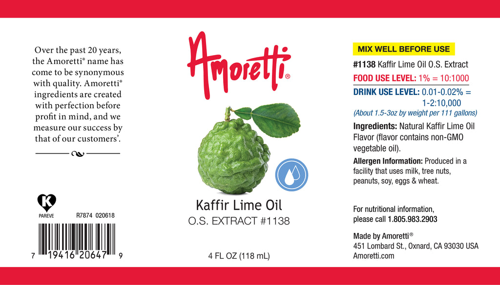Kaffir Lime Oil Extract Oil Soluble