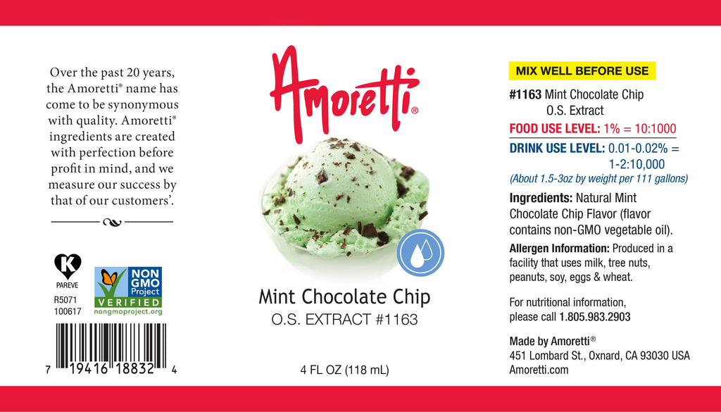 Mint Chocolate Chip Extract Oil Soluble