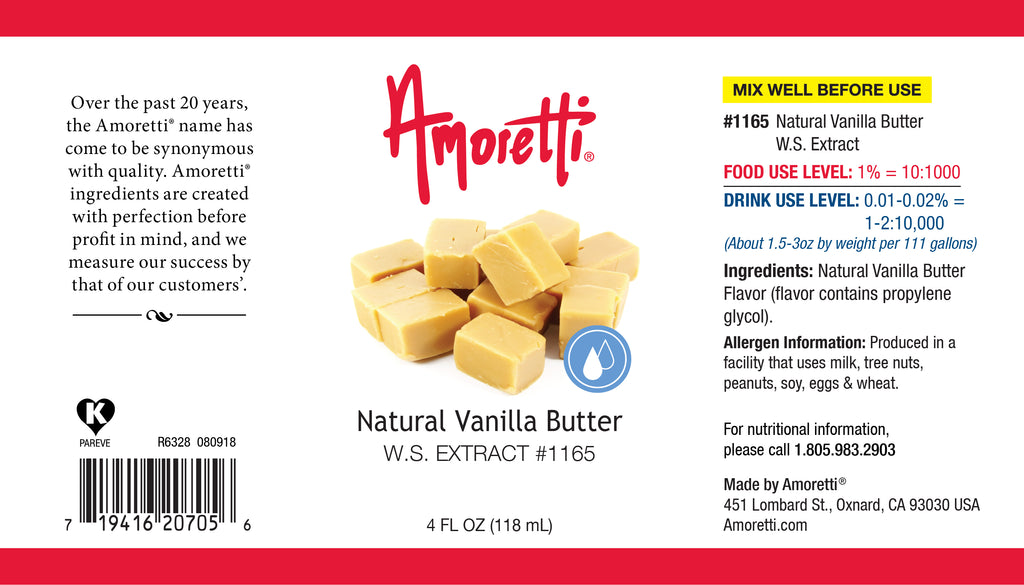 Natural Vanilla Butter Extract Water Soluble