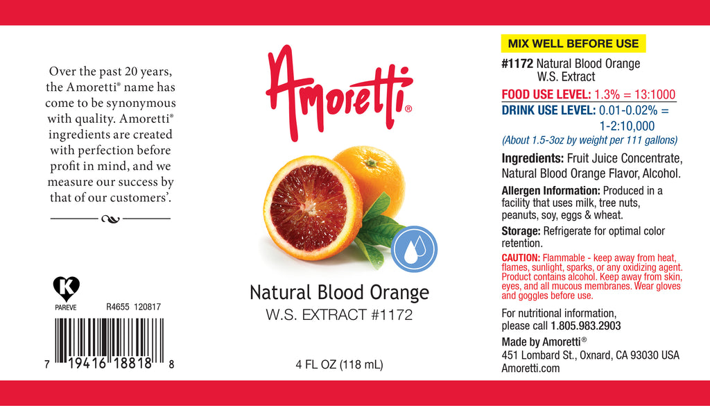 Natural Blood Orange Extract Water Soluble