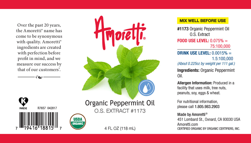 Organic Peppermint Oil Extract Oil Soluble