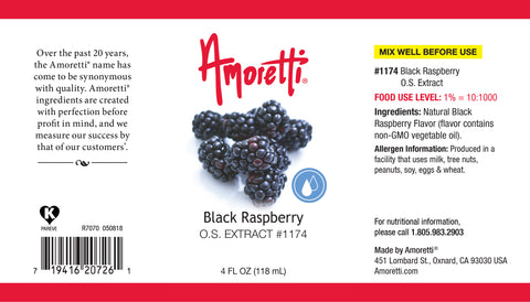 Amoretti Black Raspberry Extract O.S.