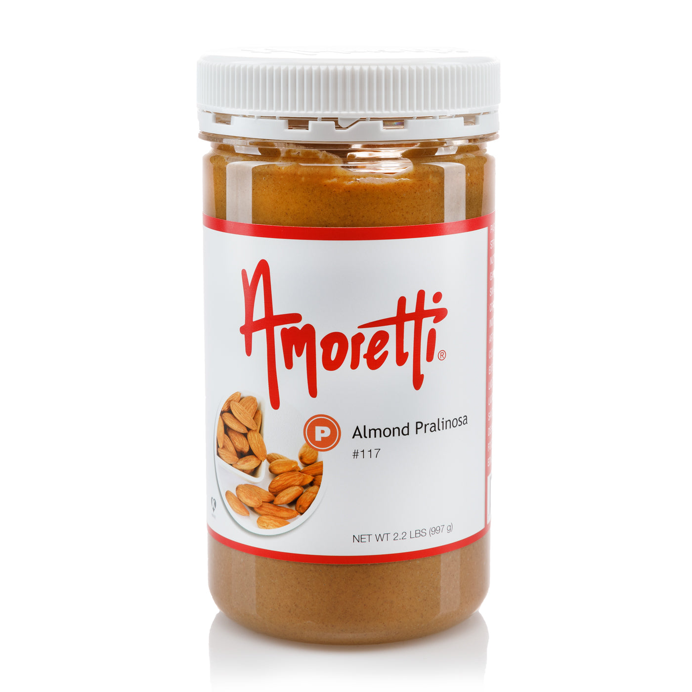 Almond Pralinosa - Dark Roasted, Ultra Smooth Natural (skin on) Almond Butter (sugar added)