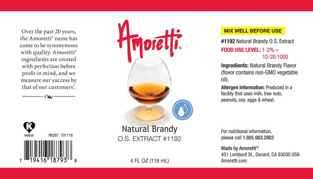 Natural Brandy Extract Oil Soluble