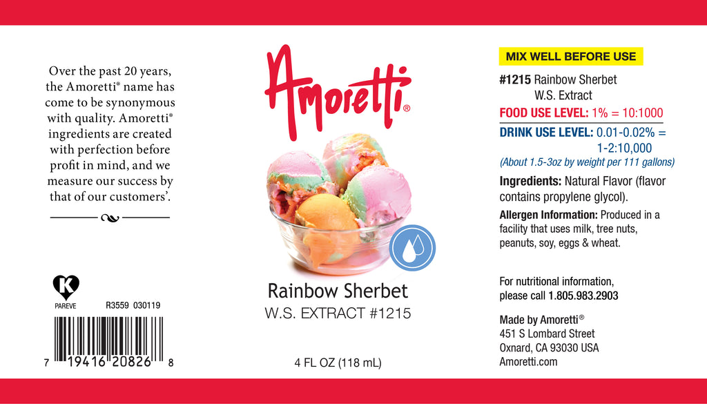 Rainbow Sherbert Extract Water Soluble