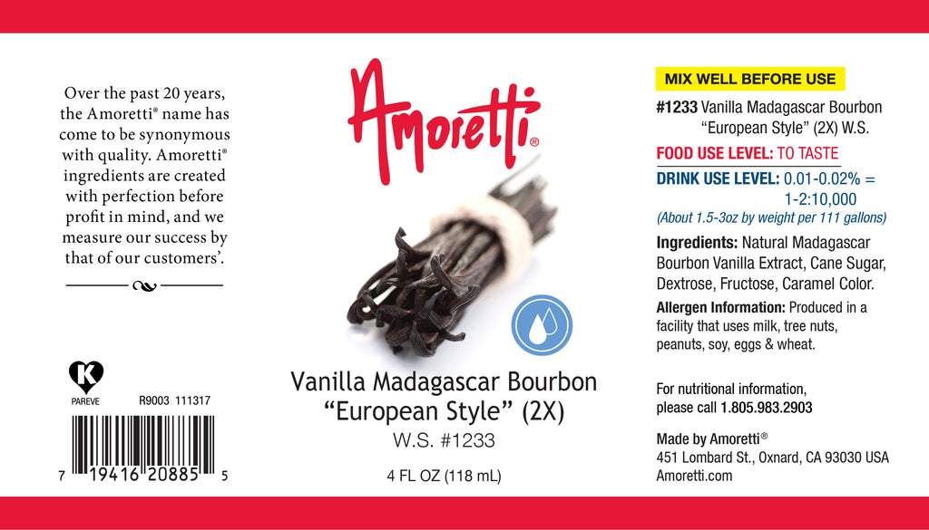 "Vanilla Madagascar Bourbon ""European Style"" Water Soluble 2X"