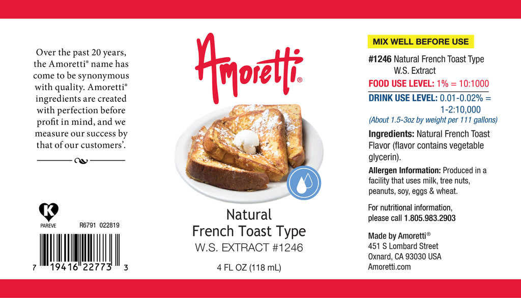 Natural French Toast Extract Water Soluble