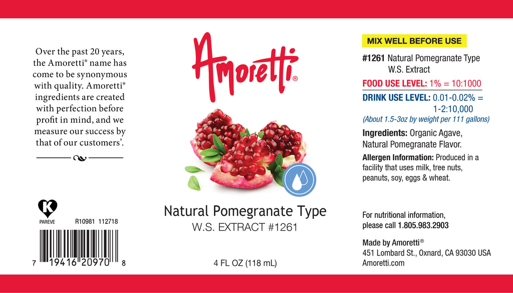 Natural Pomegranate Type Extract Water Soluble