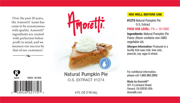 Natural Pumpkin Pie Extract Oil Soluble
