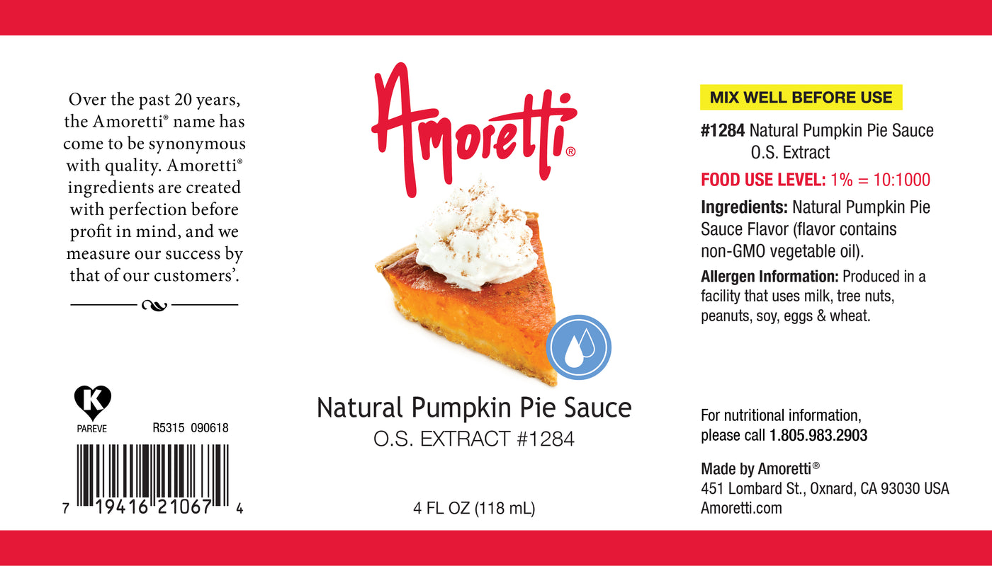 Natural Pumpkin Pie Sauce Extract Oil Soluble