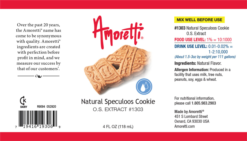 Natural Speculoos Cookie Extract Oil Soluble