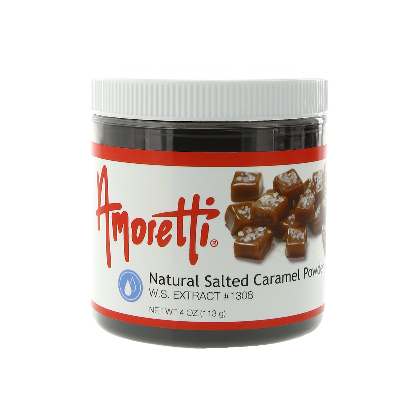 Amoretti Natural Salted Caramel Extract Powder W.S.