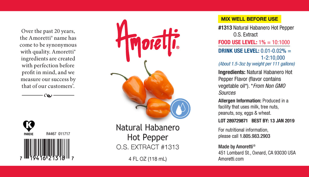 Natural Habanero Hot Pepper Extract Oil Soluble